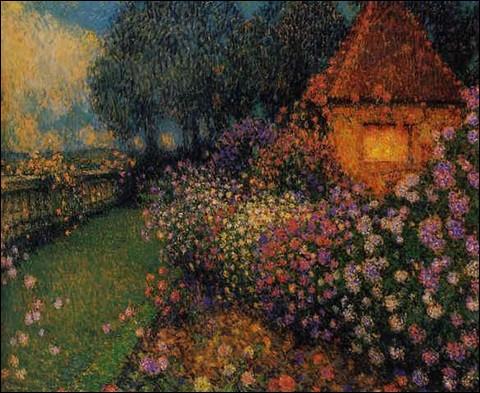 """Qui a peint """"Le Pavillon dans la roseraie"""" ?"""