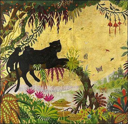 """Quel peintre naïf a représenté """"Panthère noire sur la branche"""" ?"""