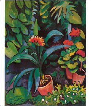 """Qui a peint """"Fleurs dans le jardin"""" ?"""