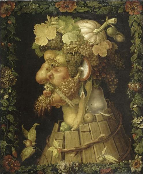 """Le peintre Arcimboldo a peint """"Les saisons"""". Voici l'un de ces quatre tableaux. Est-ce, à votre avis, celui représentant le bel automne ?"""