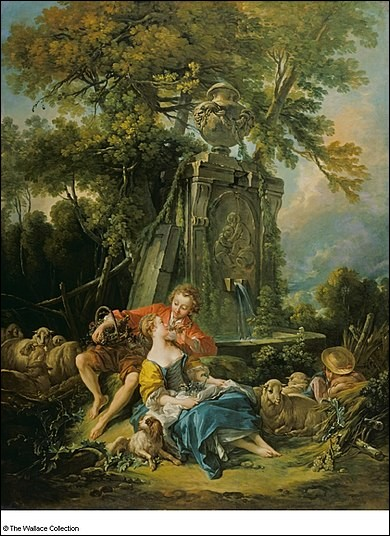 """Voici le très doux tableau """"Un automne pastoral"""". Quel est le grand peintre français qui en est l'auteur ?"""