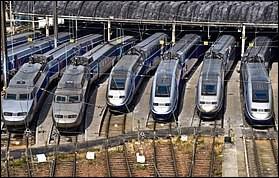 Quelle est la vitesse maximale que peut atteindre un TGV (train à grande vitesse) ?