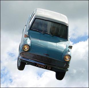 Qu'est-ce qui est en panne dans la voiture volante ?