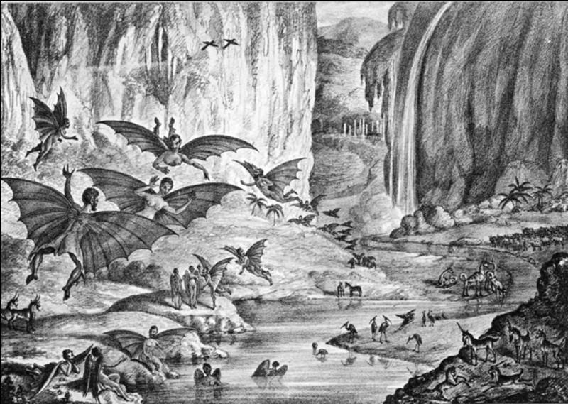 En 1835, le New York Sun publia une série d'articles de John Herschel, éminent astronome de l'époque. Que disait-il avoir découvert ?