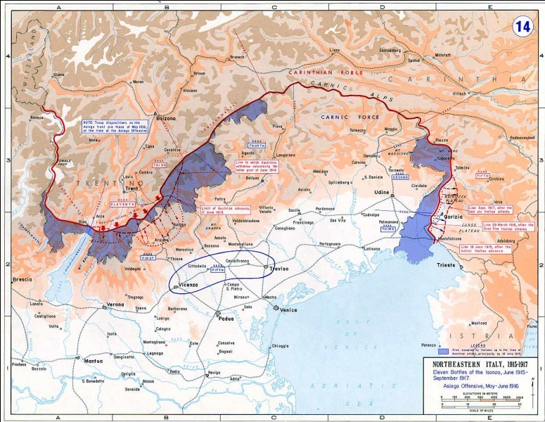 En mai 1915, l'Entente se renforce par l'entrée en guerre de