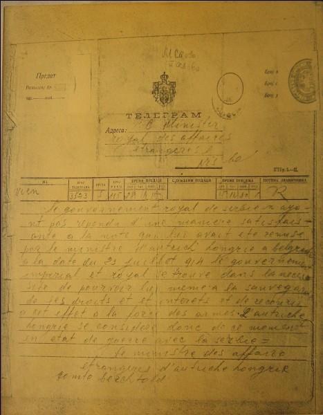 Du 28 juillet au 5 août 1914, c'est la semaine