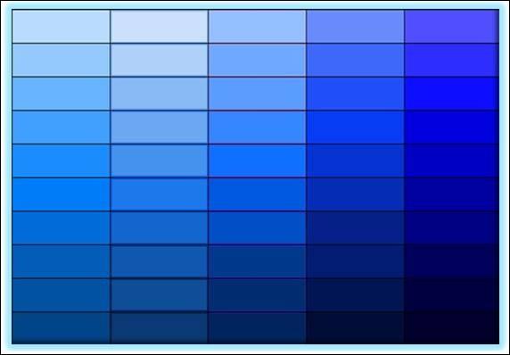 Quelle couleur n'est pas une variété de bleu ?