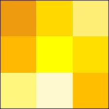 Quelle couleur n'est pas une variété de jaune ?