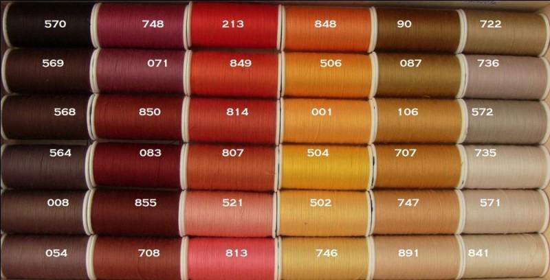 Quelle couleur n'est pas une variété de marron ?