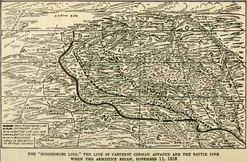 A partir du 18 juillet 1918, les Alliés procèdent à la contre-offensive qui les conduiront à avoir libéré une grande partie des zones occupées par les Allemands dans le nord de la France et une partie de la Belgique quand survient la signature de l'armistice. Durant cette avancée, comment s'appelle la ligne de défense allemande que les Alliés attaquèrent?