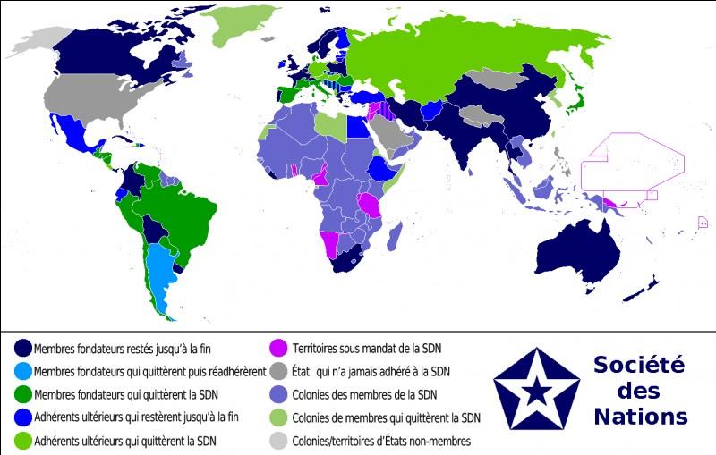 Quelle organisation internationale, ancêtre de l'Organisation des Nations unies, est créée en 1919?