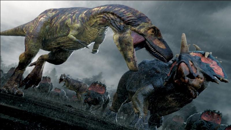Quel dinosaure a été englouti par la mer, il y a 75 millions d'années, poursuivi par les Dasplétosaures ?