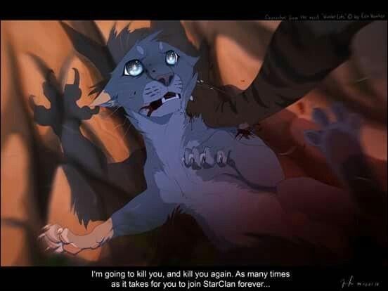 Les saisons passent et un chat de son clan se fait bannir pour avoir essayé de tuer le chef. Qui est ce chat ?