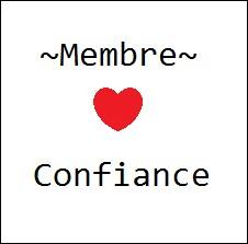 Pour obtenir le statut 'Membre Confiance', il faut créer au moins 2 quiz originaux et sans fautes d'orthographe.