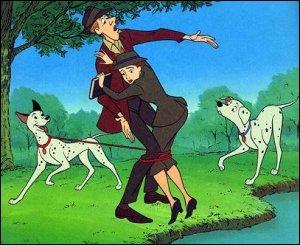 Lorsque Roger et Pongo rencontrent Anita et Perdita dans le parc, dans quoi Roger et Anita tombent-ils ('Les 101 dalmatiens') ?