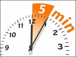 Combien y a-t-il de secondes dans 5 minutes ?