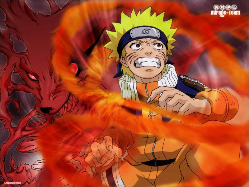 Le chakra est habituellement bleu, pourquoi est-il rouge autour de Naruto ?