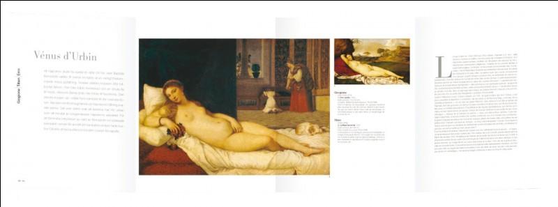 """Le tableau """"Vénus d'Urbin"""" est signé du peintre..."""