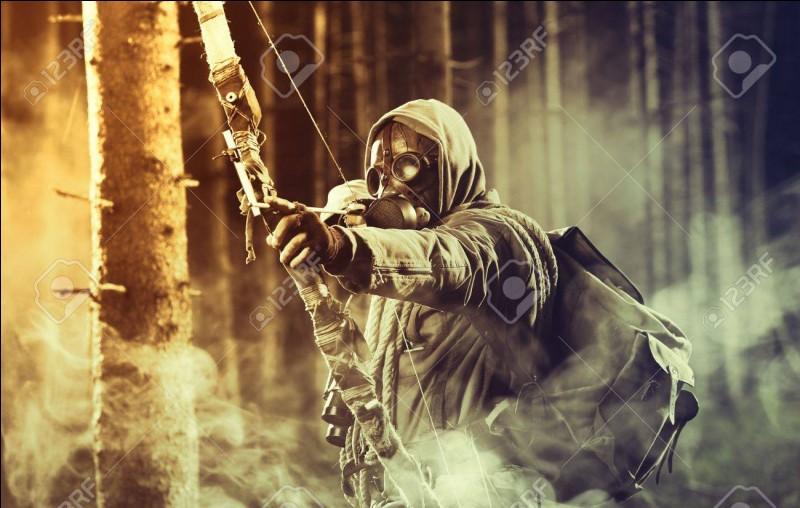 Tirer sur la corde d'un arc pour envoyer une flèche !