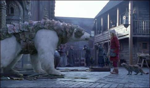 """Voilà le Fozzie polaire, l'ours en armure à la noble pensée de la trilogie """"A la croisée des mondes"""" de Philip Pullman. Le voici face à Lyra Belacqua, qui va lui rendre son honneur. Quel est le nom de ce magnifique animal ?"""