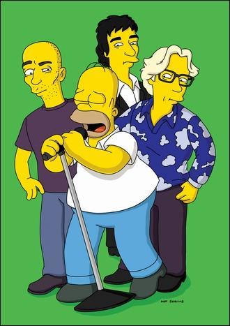 Quel est ce groupe au coté d'Homer ?