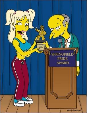 Qui est cette star au coté de Mr Burns ?