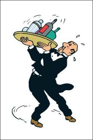 """Dans les bandes dessinées """"Tintin"""", comment s'appelle le maître d'hôtel du château de Moulinsart ?"""