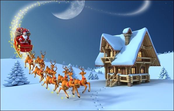 À l'origine, combien de rennes tiraient le traîneau du père Noël ?