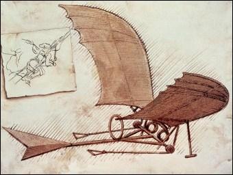 Quel animal Vinci a-t-il étudié pour construire sa machine volante ?