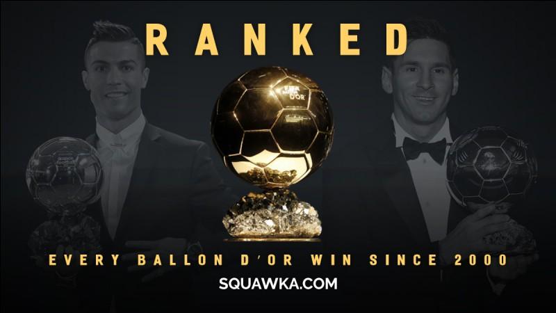 Quel footballeur a remporté le Ballon d'or en 2007 ?