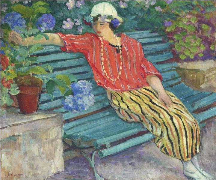 Qui a peint cette femme sur ce banc ?