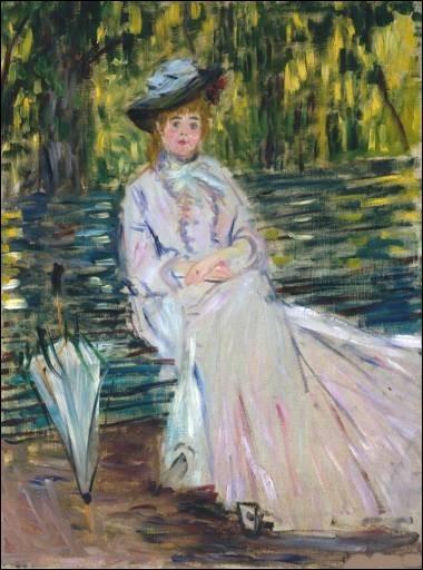 """À qui doit-on le tableau intitulé """"Femme assise sur un banc"""" ?"""