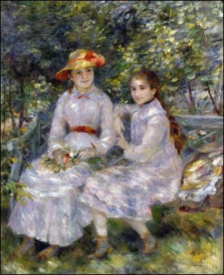 """Qui a peint """"Les filles de Paul Durand"""" sur un banc ?"""