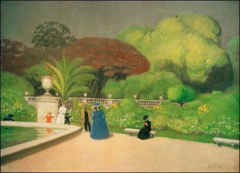 Qui a représenté les bancs du jardin du Luxembourg ?