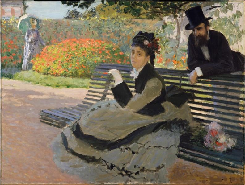 Qui a représenté son épouse sur un banc ?