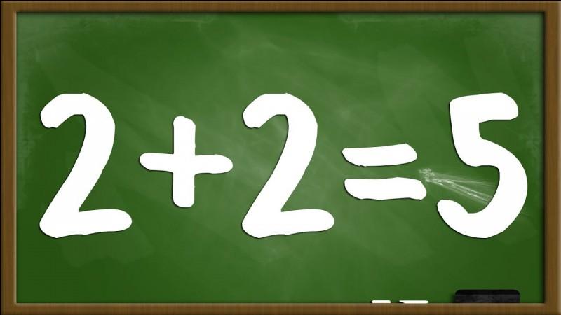 Mathématiques : Quel est le résultat de 2 + 2 ?