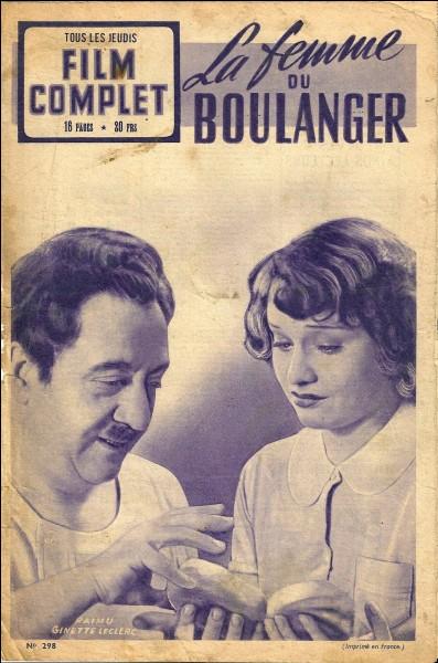 """""""La Femme du Boulanger"""" est un livre de Marcel Pagnol."""