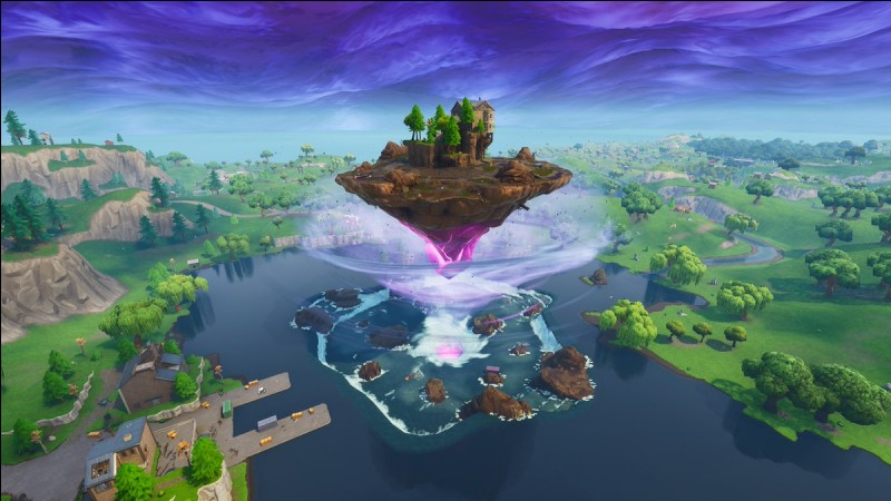 Quel est le nouveau nom de Loot Lake (après l'explosion du cube) ?
