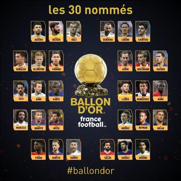 Qui a remporté le Ballon d'or 2018 ?