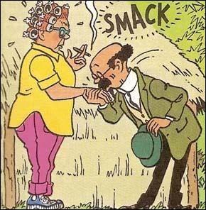 Qui est cette dame à qui Tournesol fait un baise-main ?