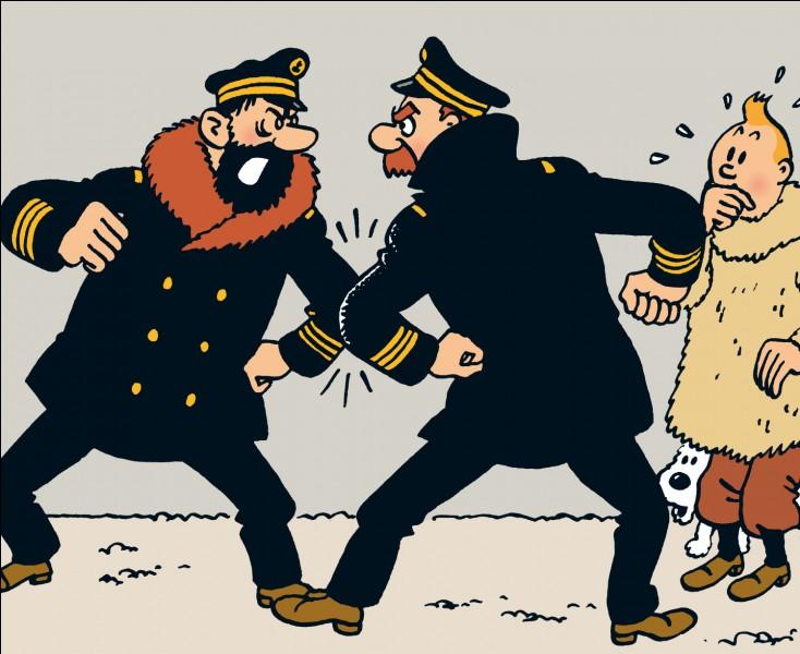 Quel est ce capitaine avec lequel Haddock se chamaille, alors qu'ils sont très amis ?