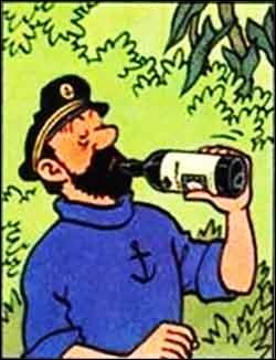 Que boit en grande quantité le capitaine Haddock ?