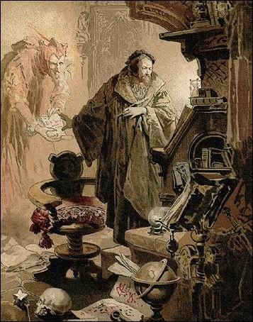 Dans la littérature, quel personnage de Goethe vend son âme au Diable?