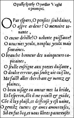 Quel type de poème Clément Marot a-t-il emprunté à Pétrarque ?