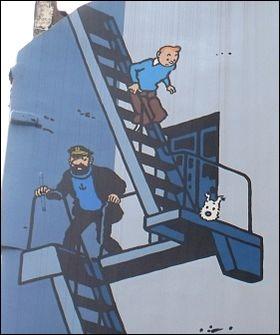 De quoi parle un des héros d'Hergé, concernant Brest ?