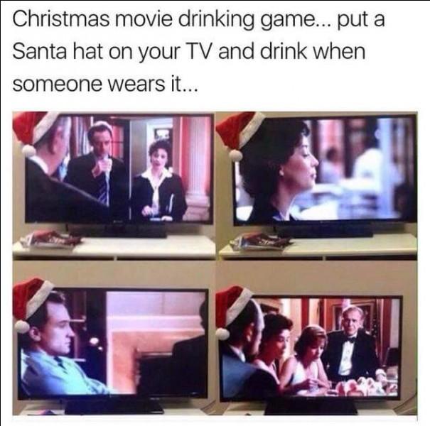 Voici une idée amusante pour les fêtes, il suffit pour cela de poser un bonnet de Père Noël sur le coin de l'écran de télévision, et au gré des images...