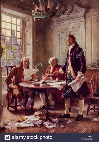 En quelle année le Second Congrès continental a-t-il adopté la Déclaration d'indépendance des États-Unis ?