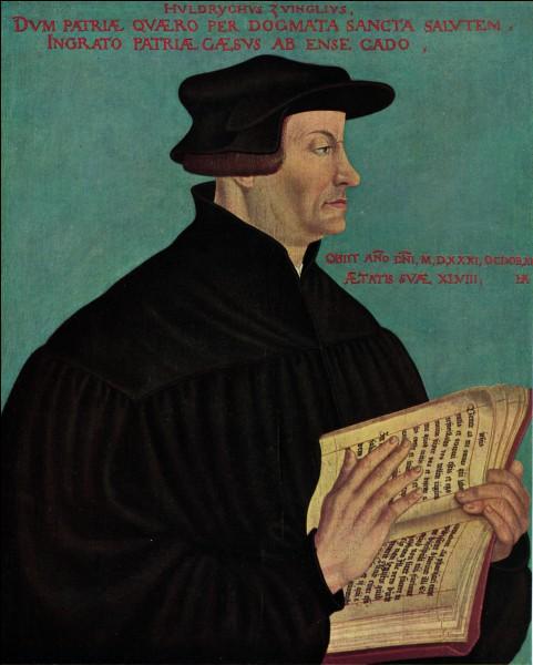 Combien d'articles visant à réformer l'Église Ulrich Zwingil a-t-il proposés en 1523 ?