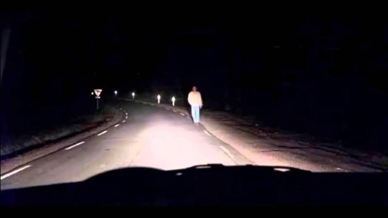 Silhouette fantomatique issue d'une légende urbaine, fréquentant le bas-coté des route dans le but d'accidenter les conducteurs nocturnes, qui suis-je ?