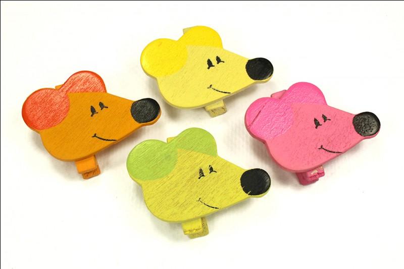 Quelle est la couleur de la souris qui courait dans l'herbe dans une célèbre chanson enfantine ?